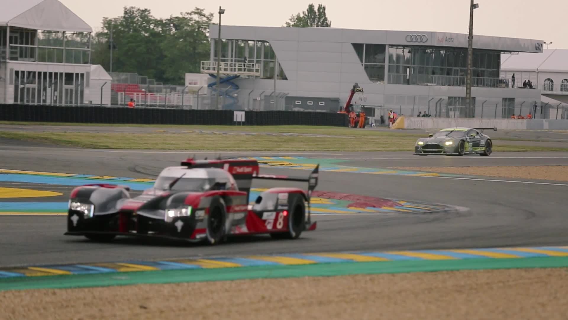 Valuable test kilometers for Audi at Le Mans