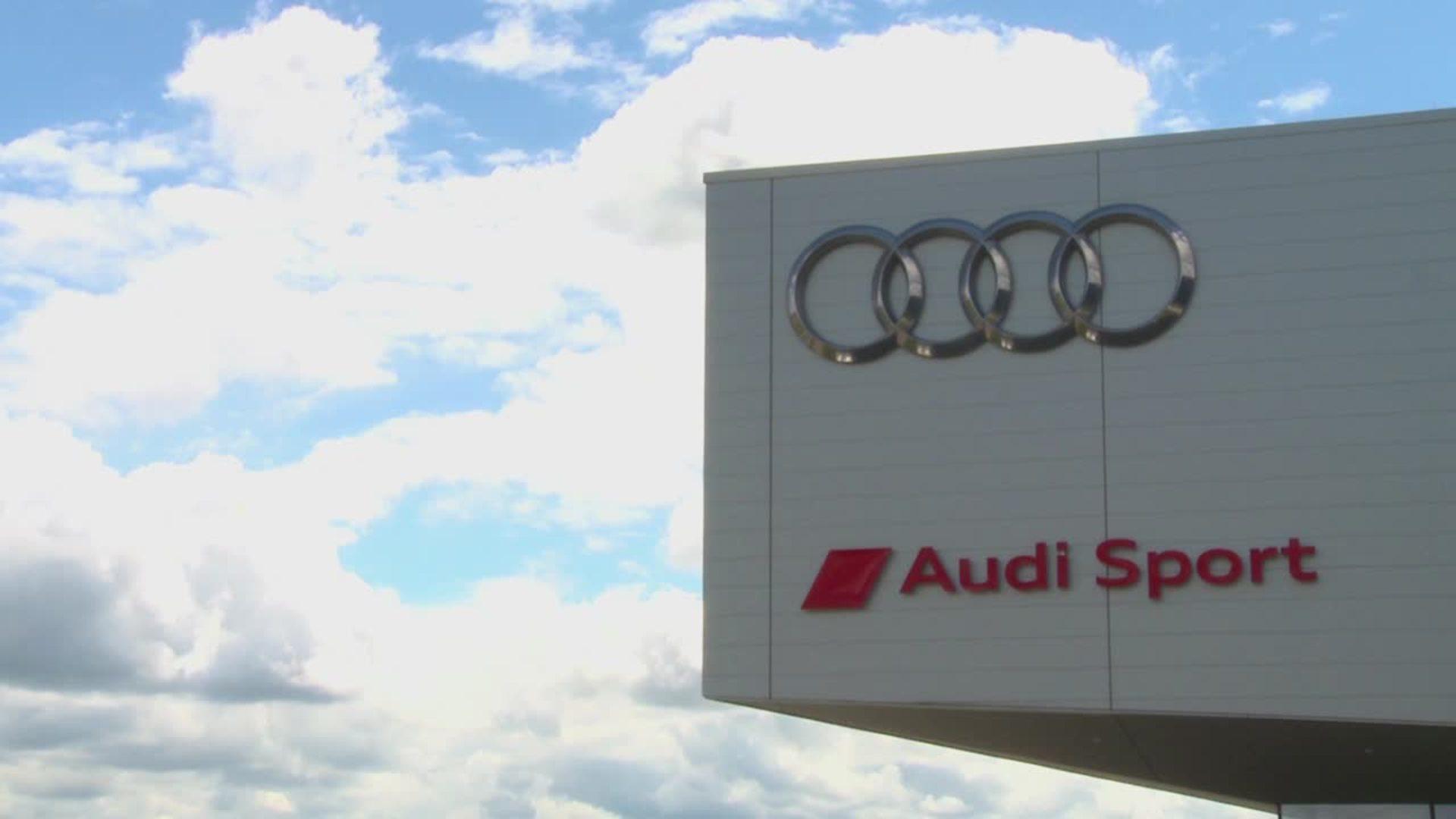 Audi R18 präsentiert sich beim Rollout für Le Mans