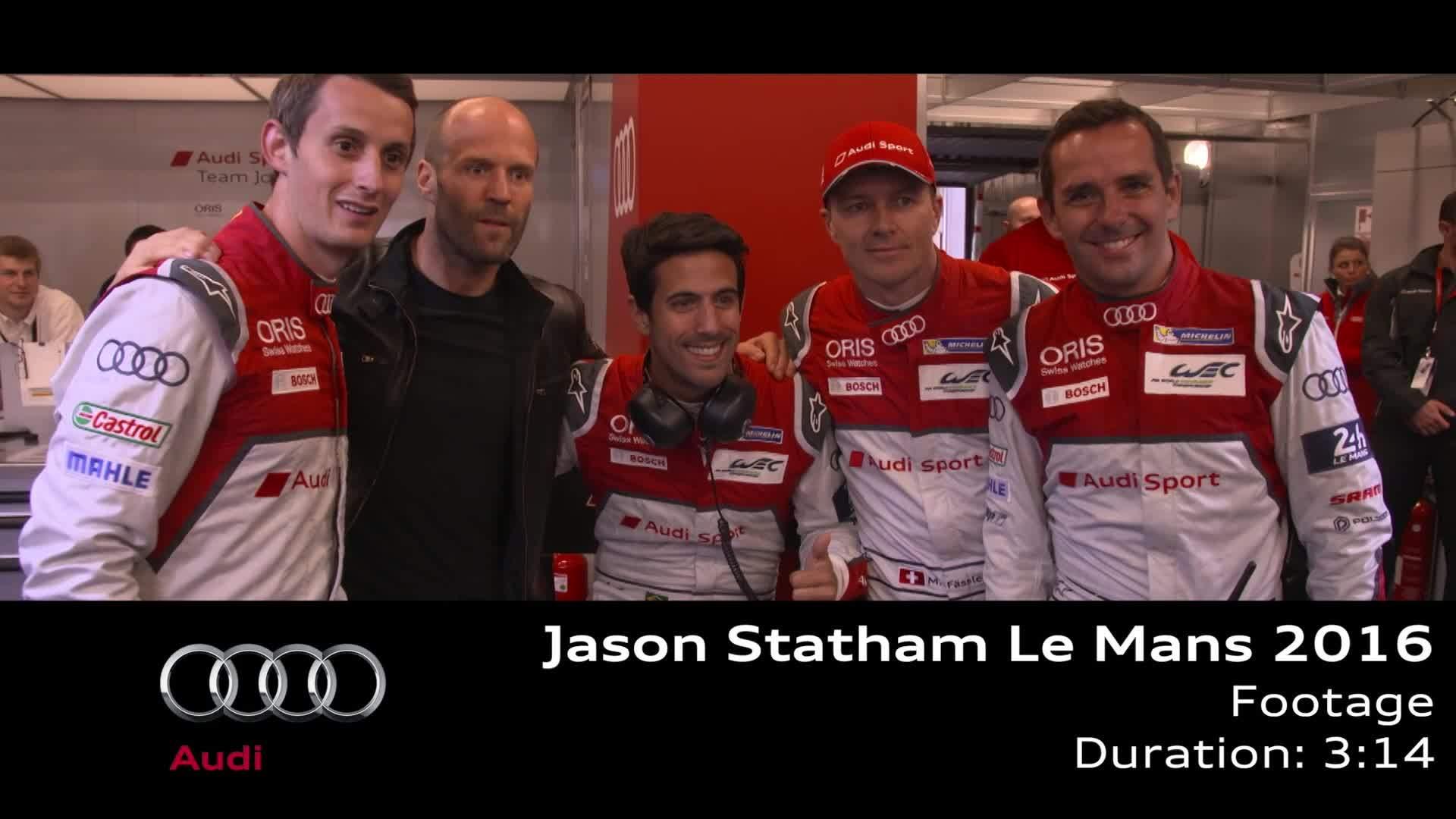 Jason Statham zu Gast bei Audi in Le Mans - Footage