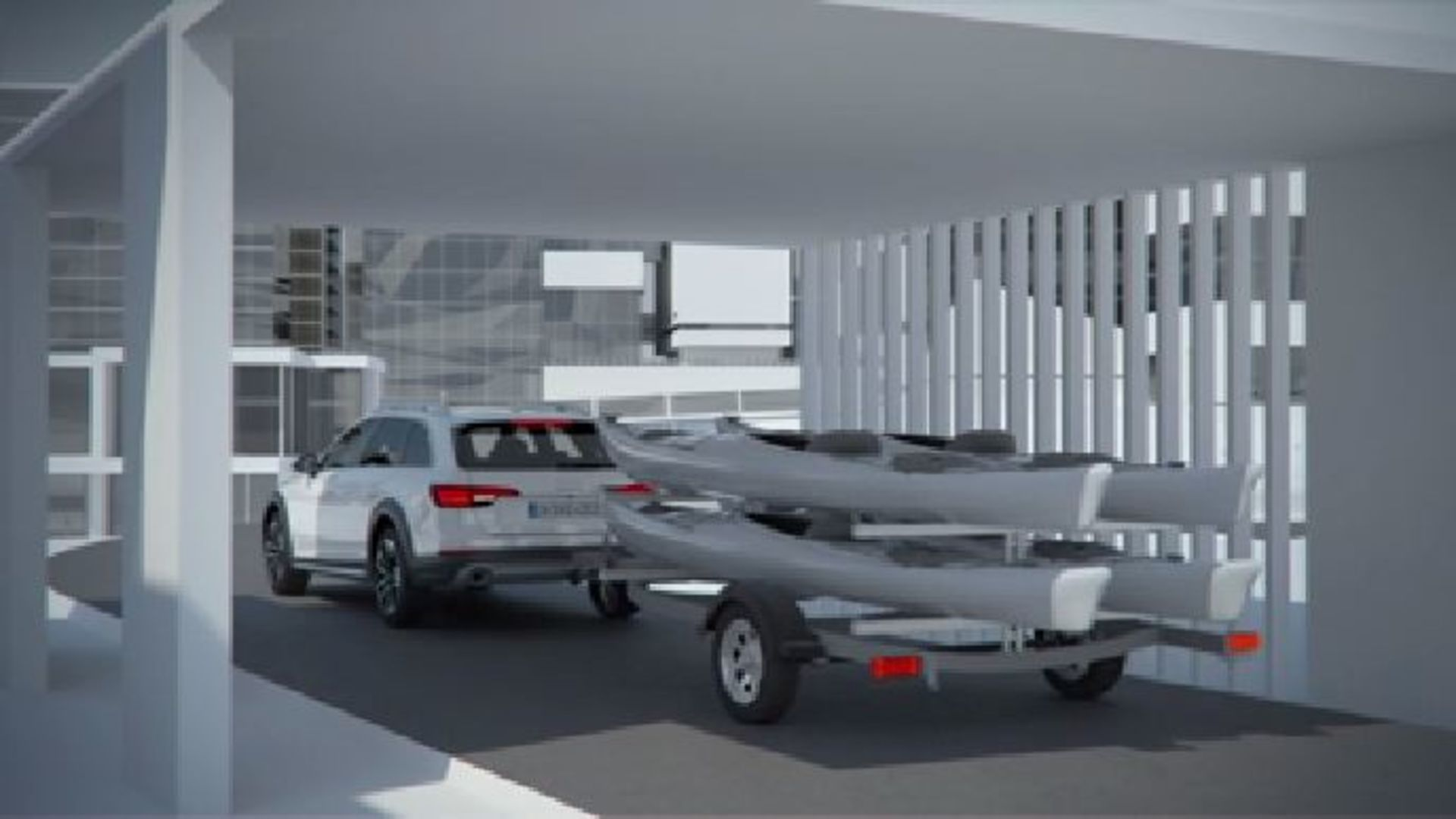 Audi A4 allroad quattro - Animation Anhängerassistent