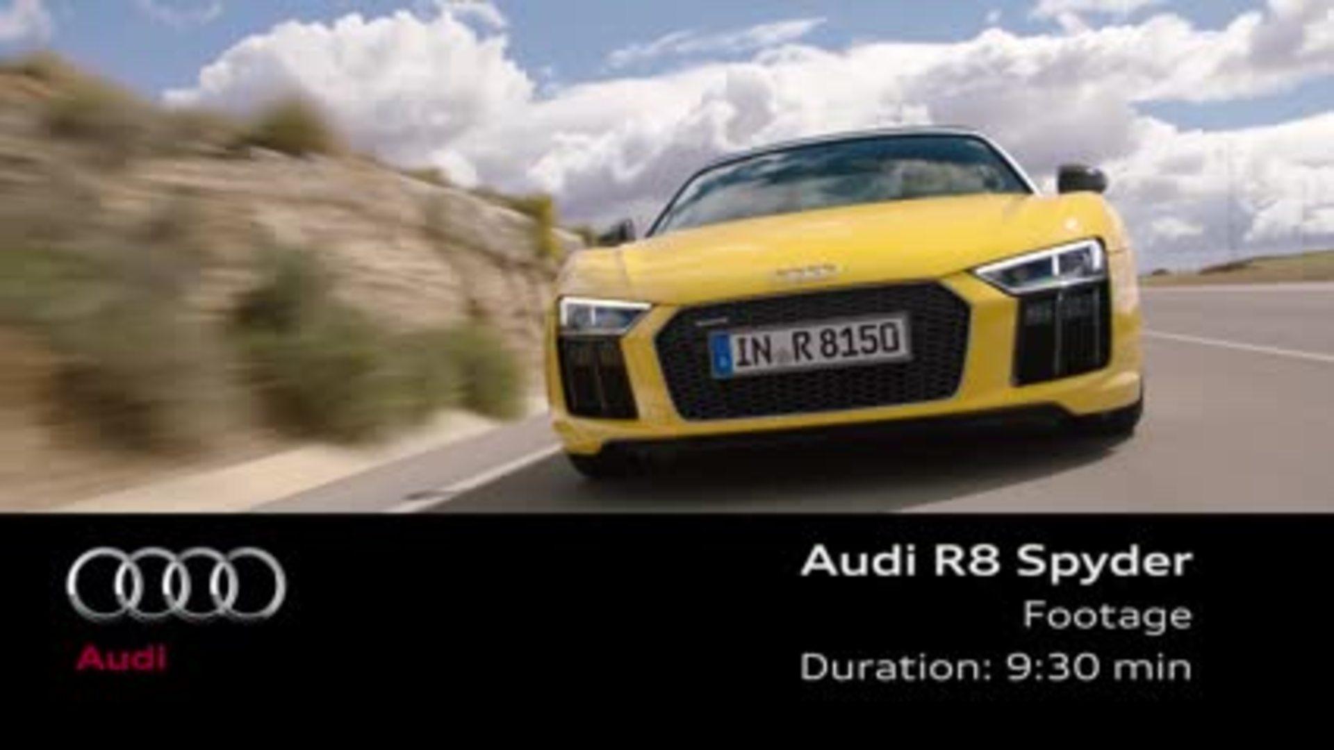 Audi R8 Spyder V10 - Footage