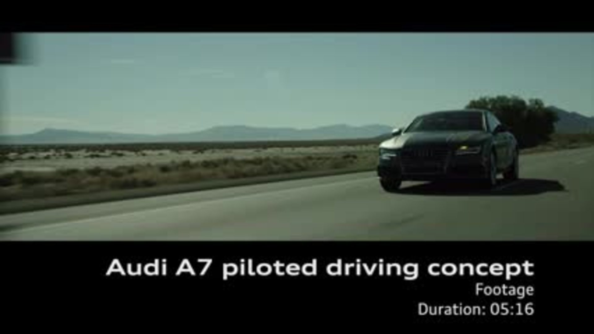 Audi A7 Sportback piloted driving concept - Footage