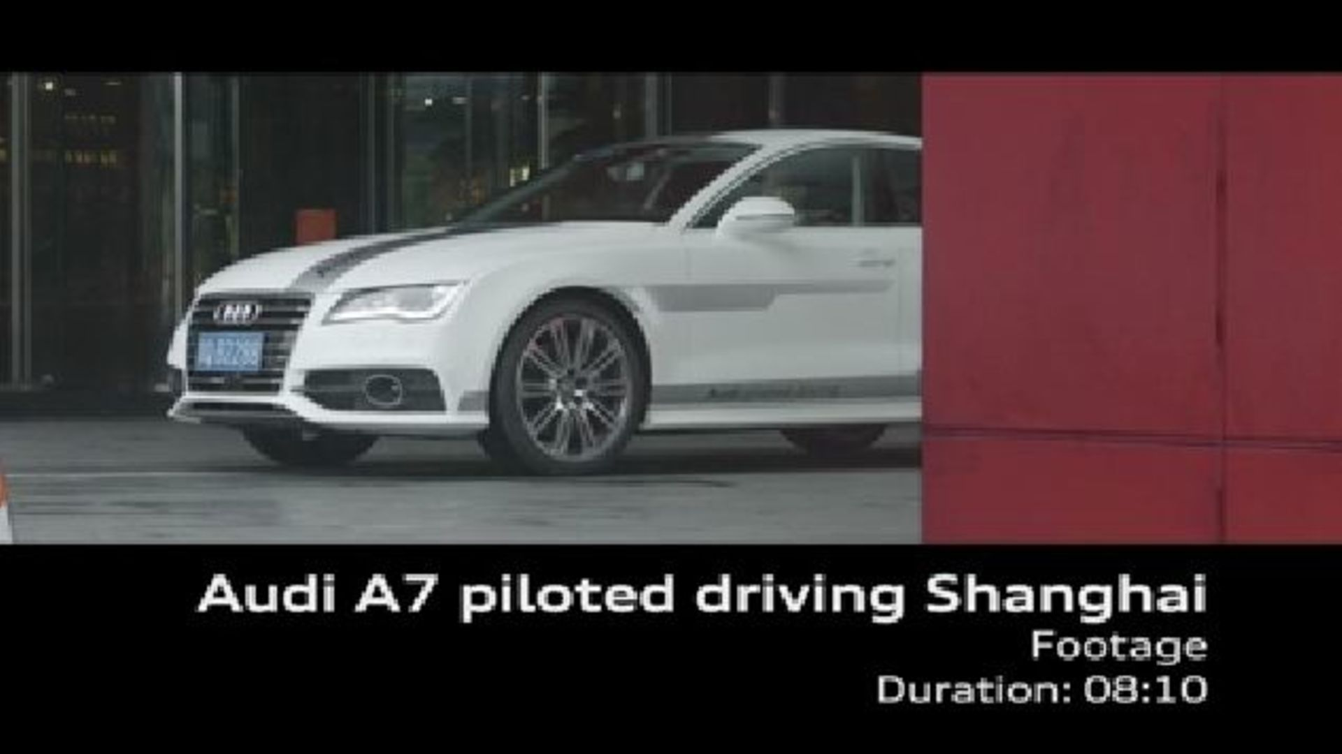 Audi A7 piloted driving Shanghai Footage
