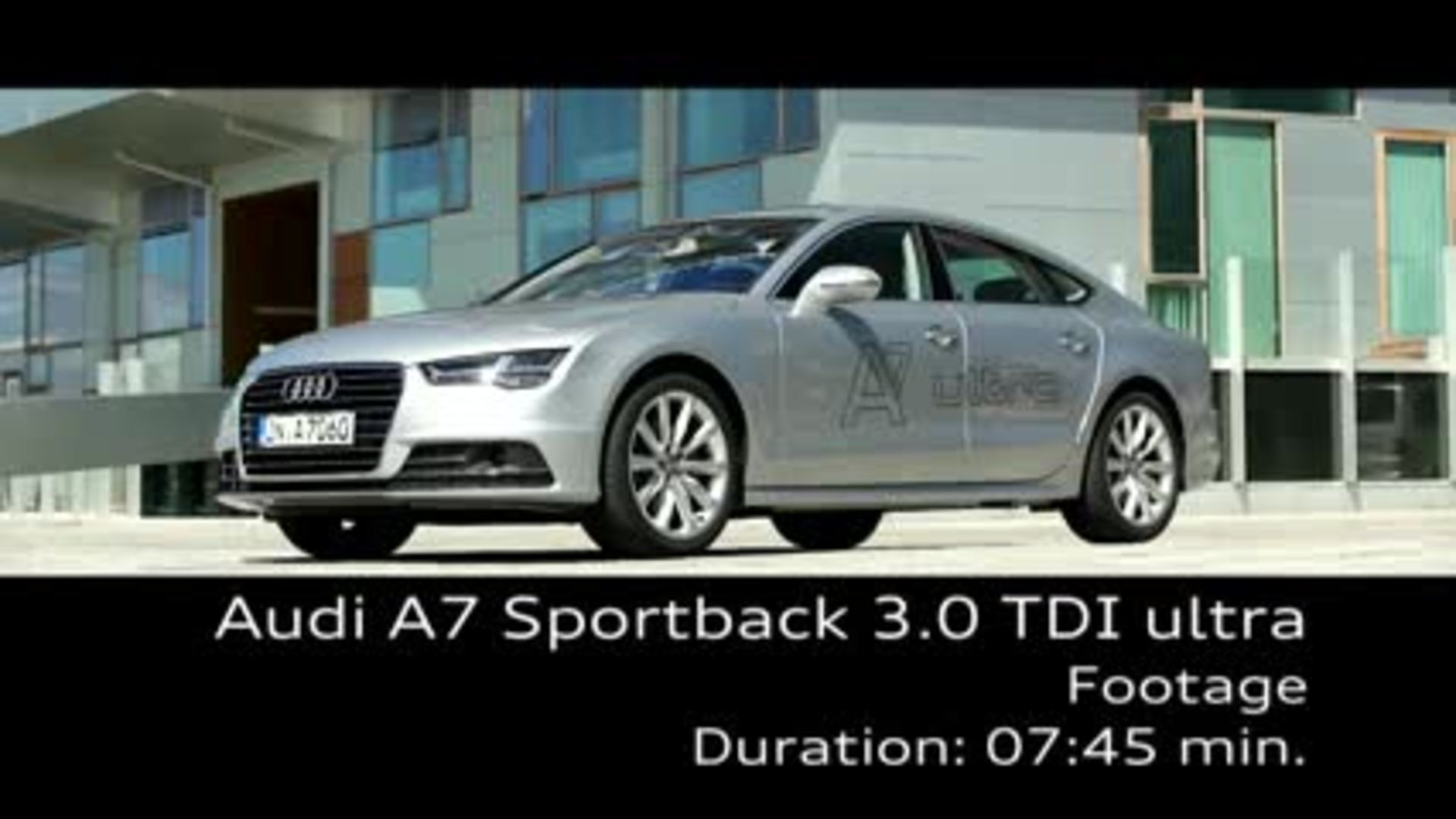 The Audi A7 Sportback TDI ultra - Footage