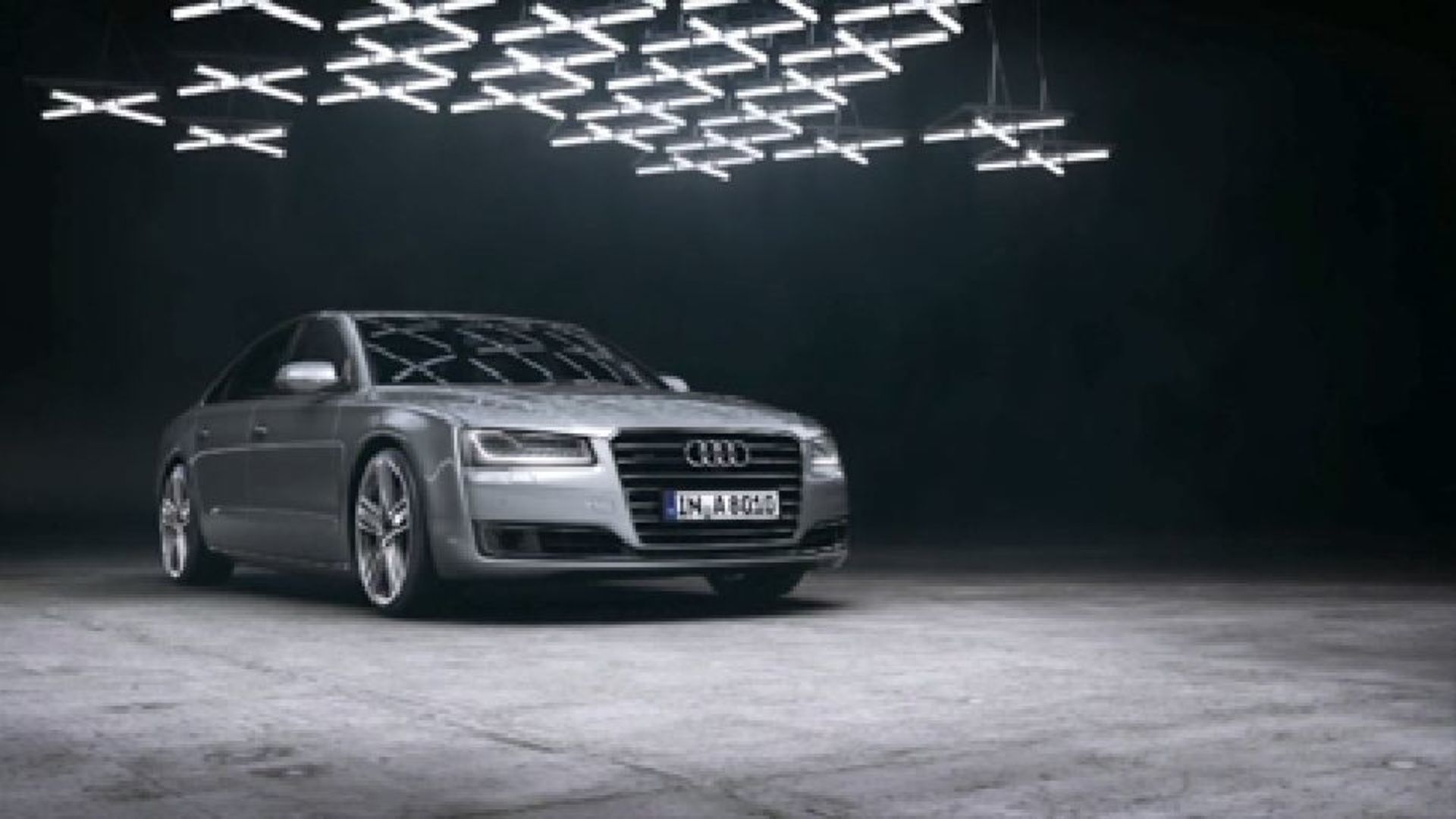The Audi A8 with Matrix LED headlights