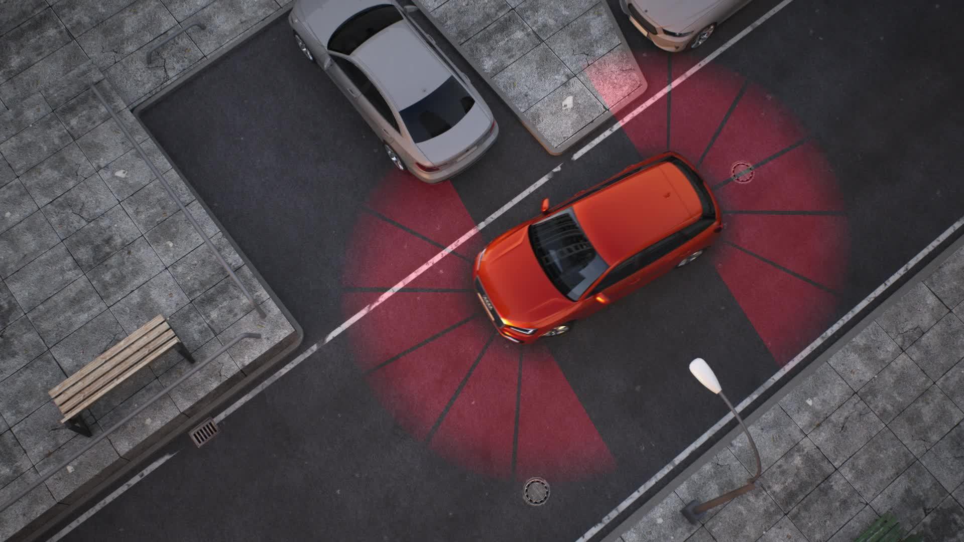 Audi Q2 - Animation Parkassistent