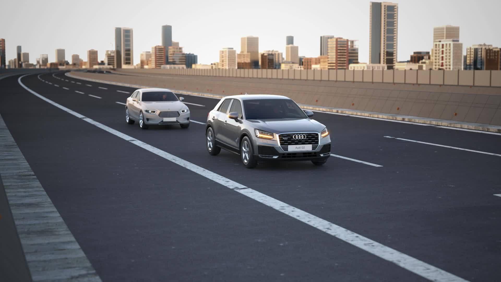 Audi Q2 - Animation emergency assist