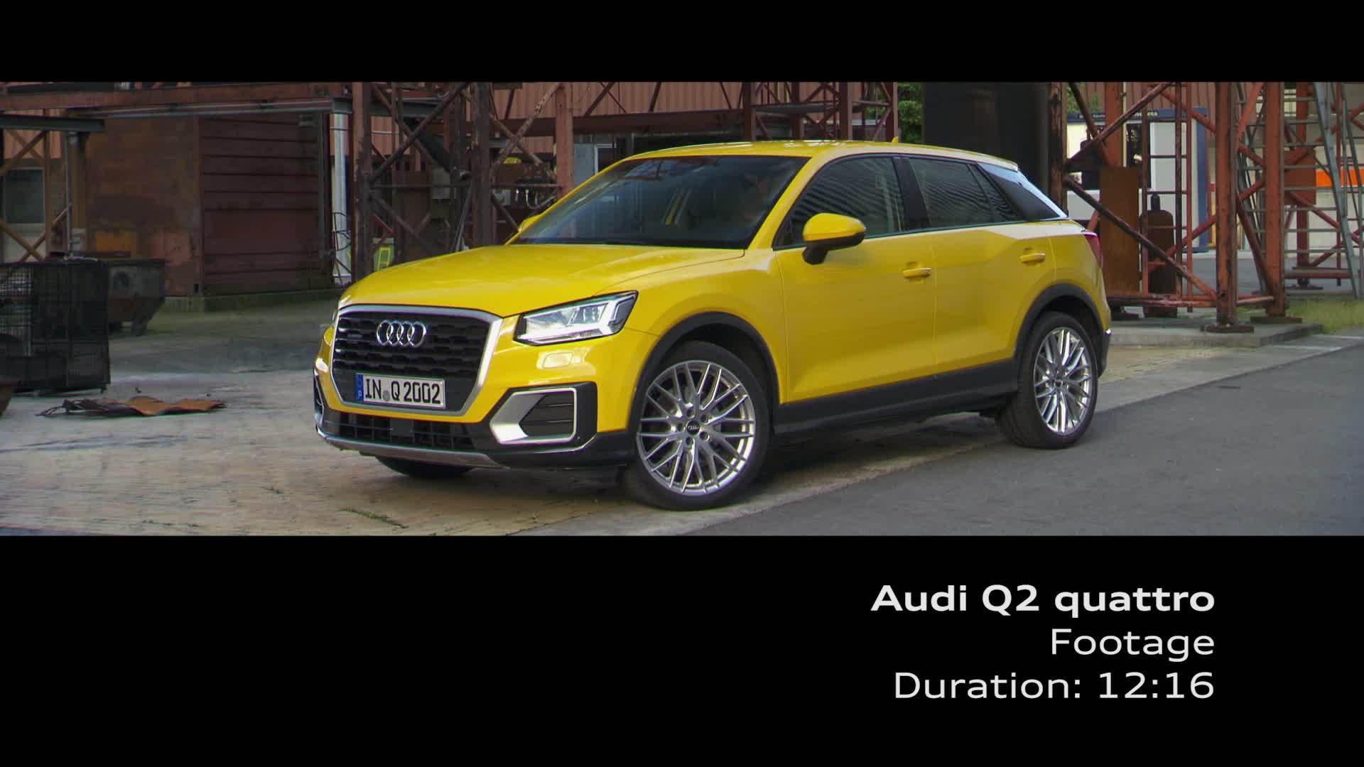 Audi Q2 - Footage on Location, Vegas Yellow
