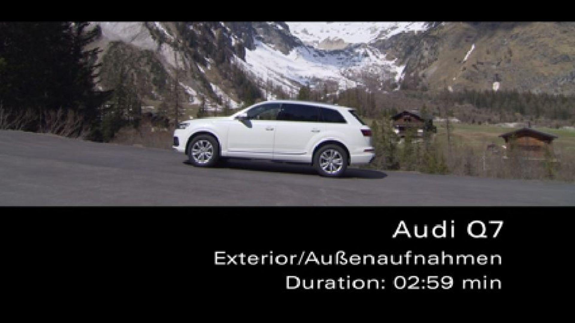 Audi Q7 Außenaufnahmen - Footage
