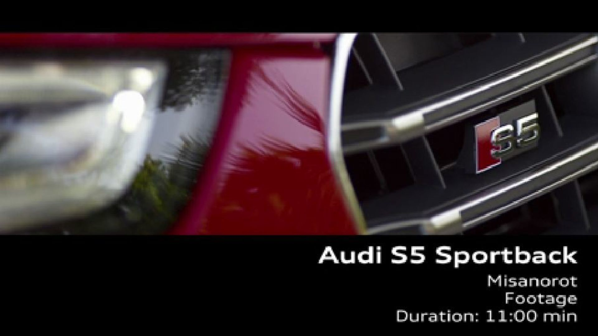 Audi S5 Sportback - Footage