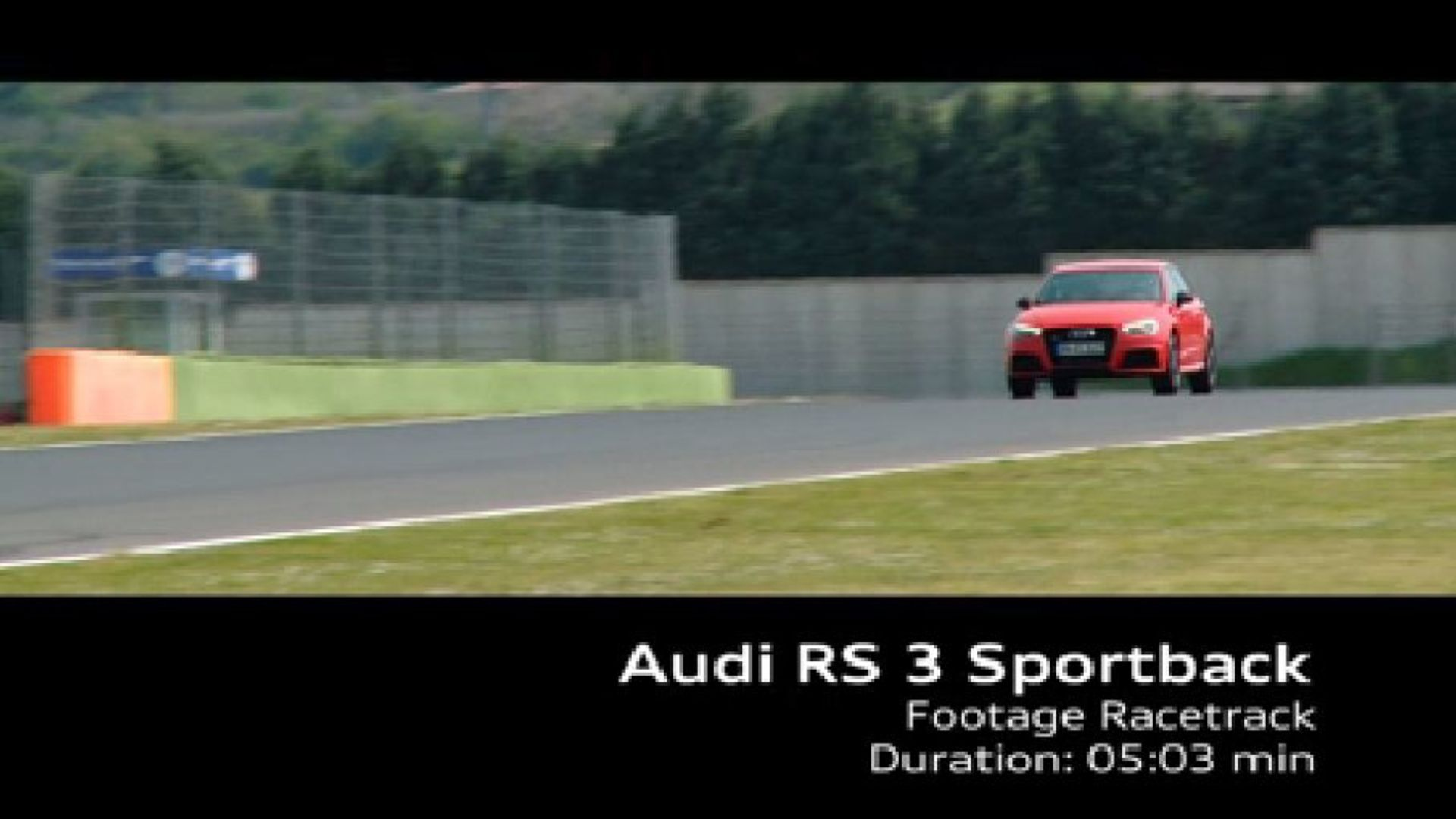 The Audi RS 3 Sportback – Footage racetrack
