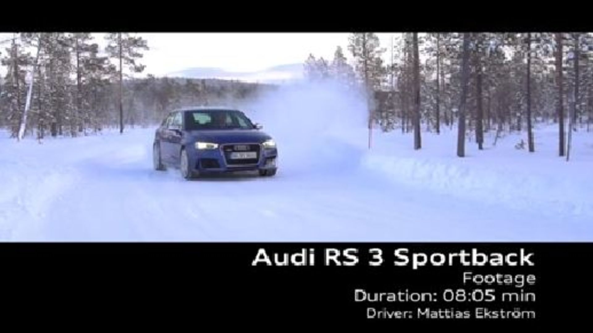 The new Audi RS 3 Sportback / Footage
