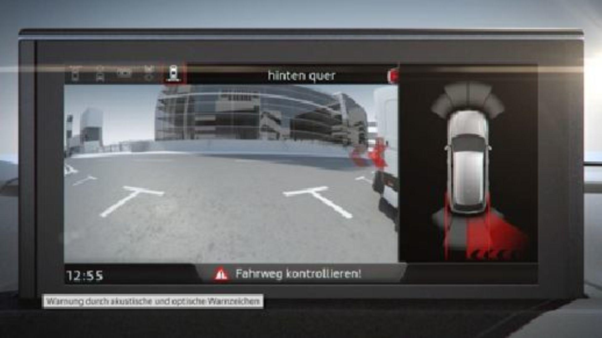 Audi Q7 - Animation Querverkehrassistent