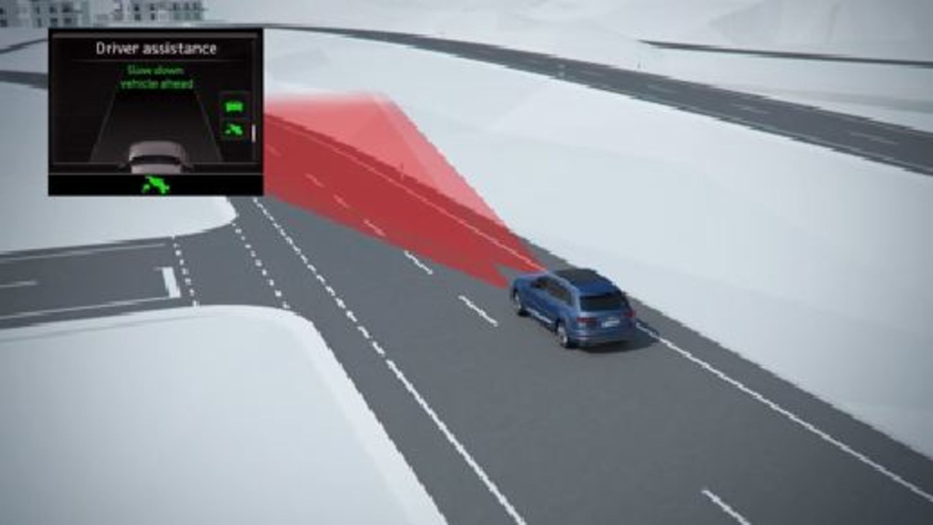 Audi Q7 - Animation predictive efficiency assistant