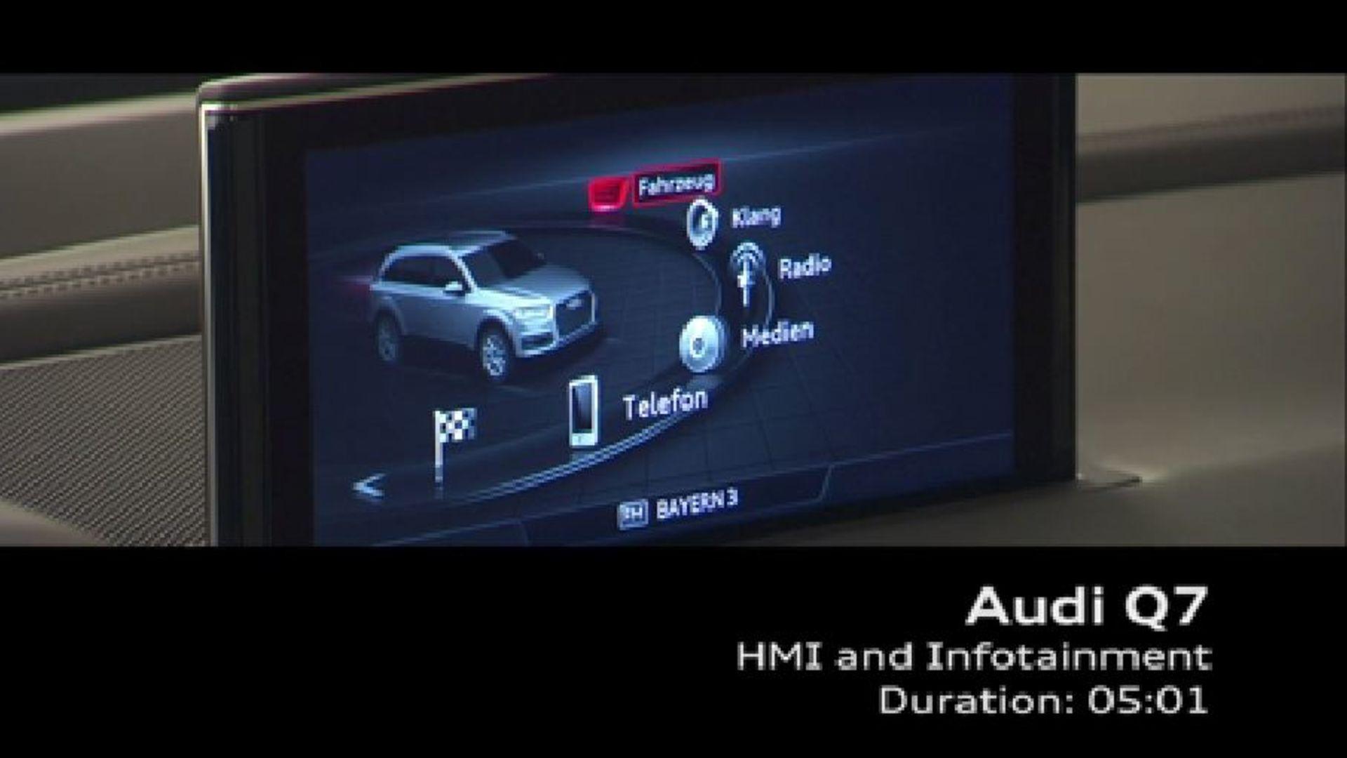 Audi Q7 - Footage HMI und Infotainment