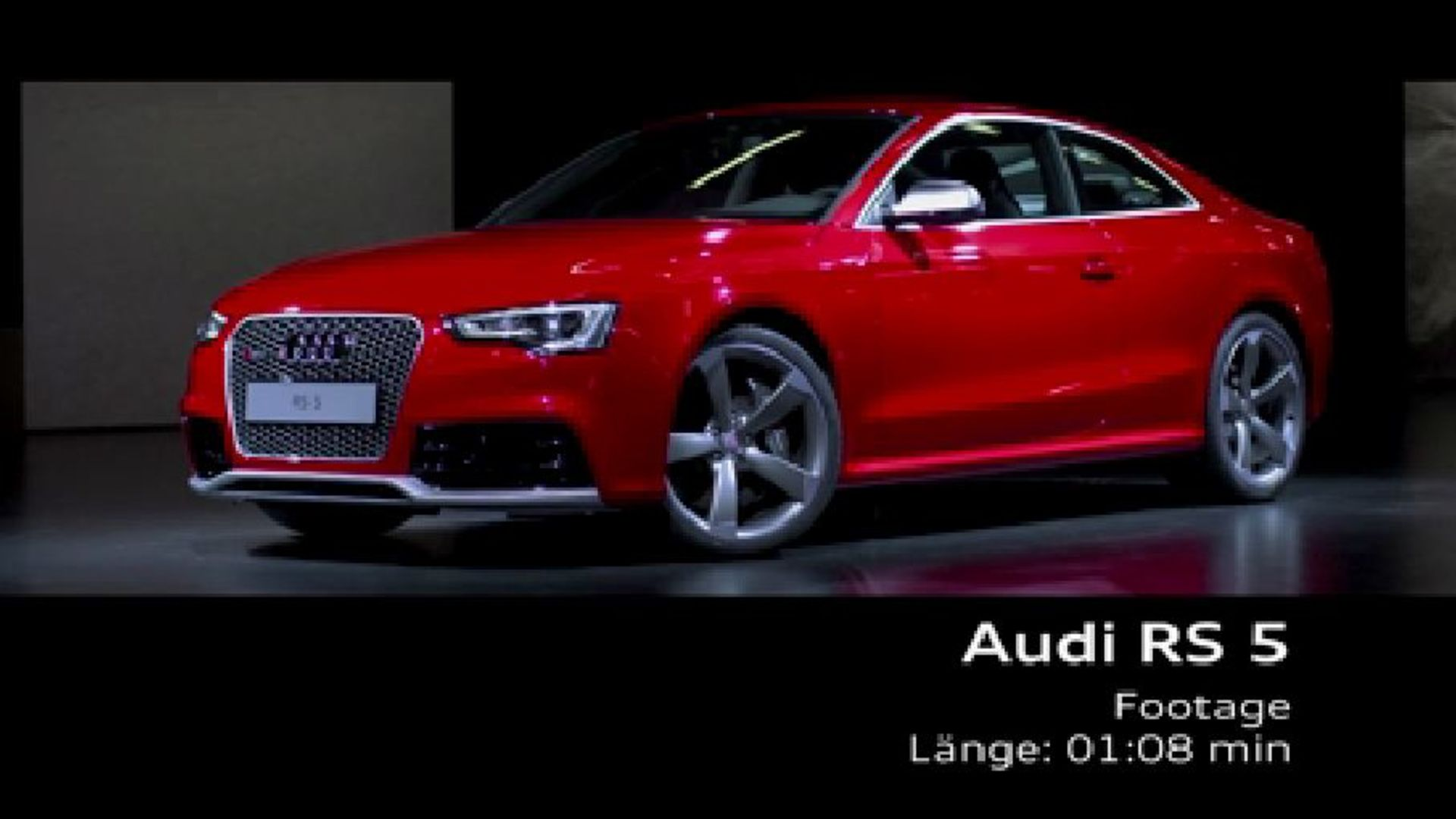 Das Audi RS 5 Coupé - Footage