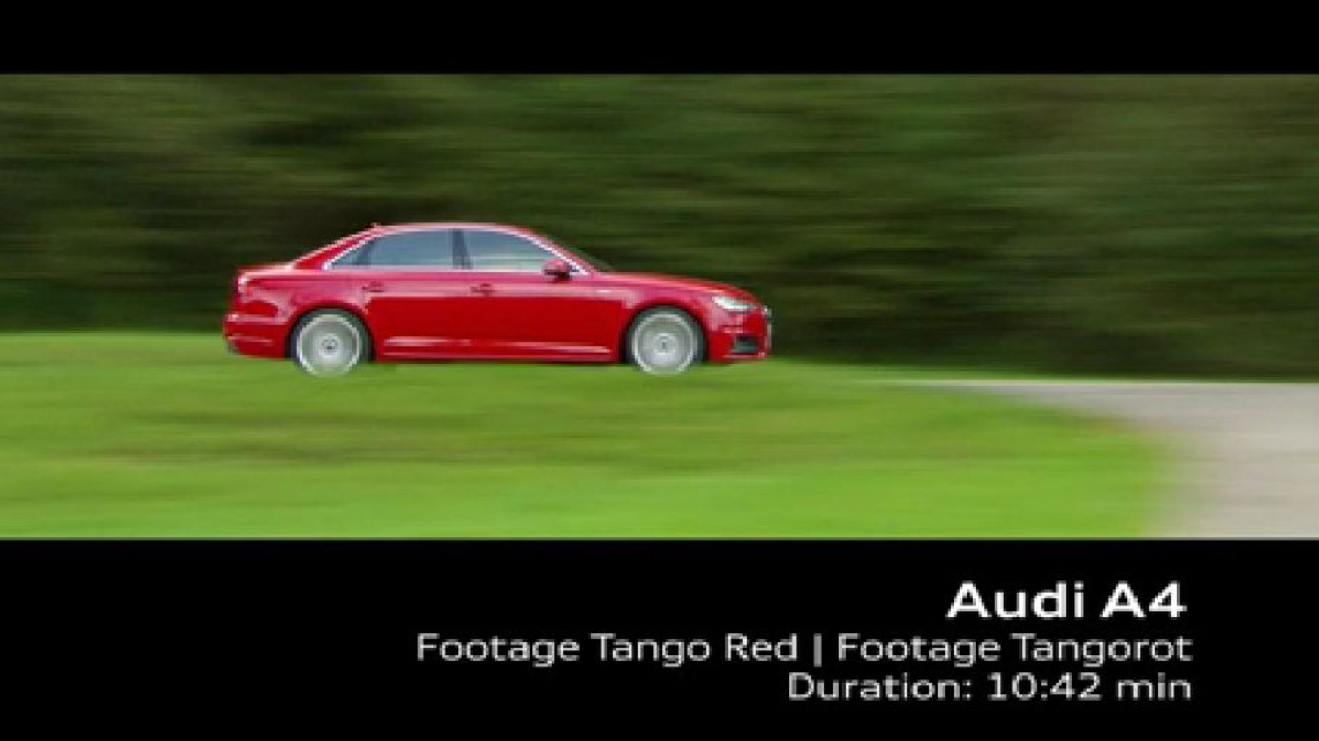 Audi A4 Limousine - Footage Tangorot