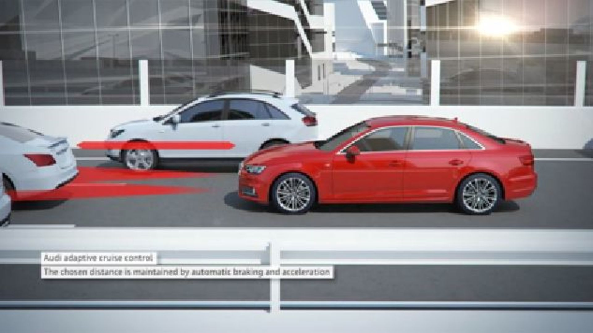 Audi A4 - Animation traffic jam assistant