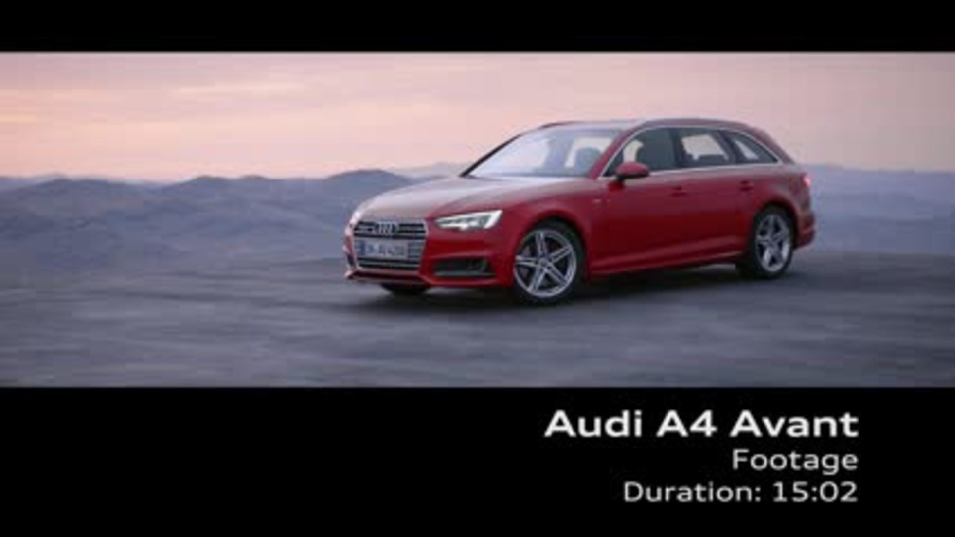 Der neue Audi A4 Avant - Footage