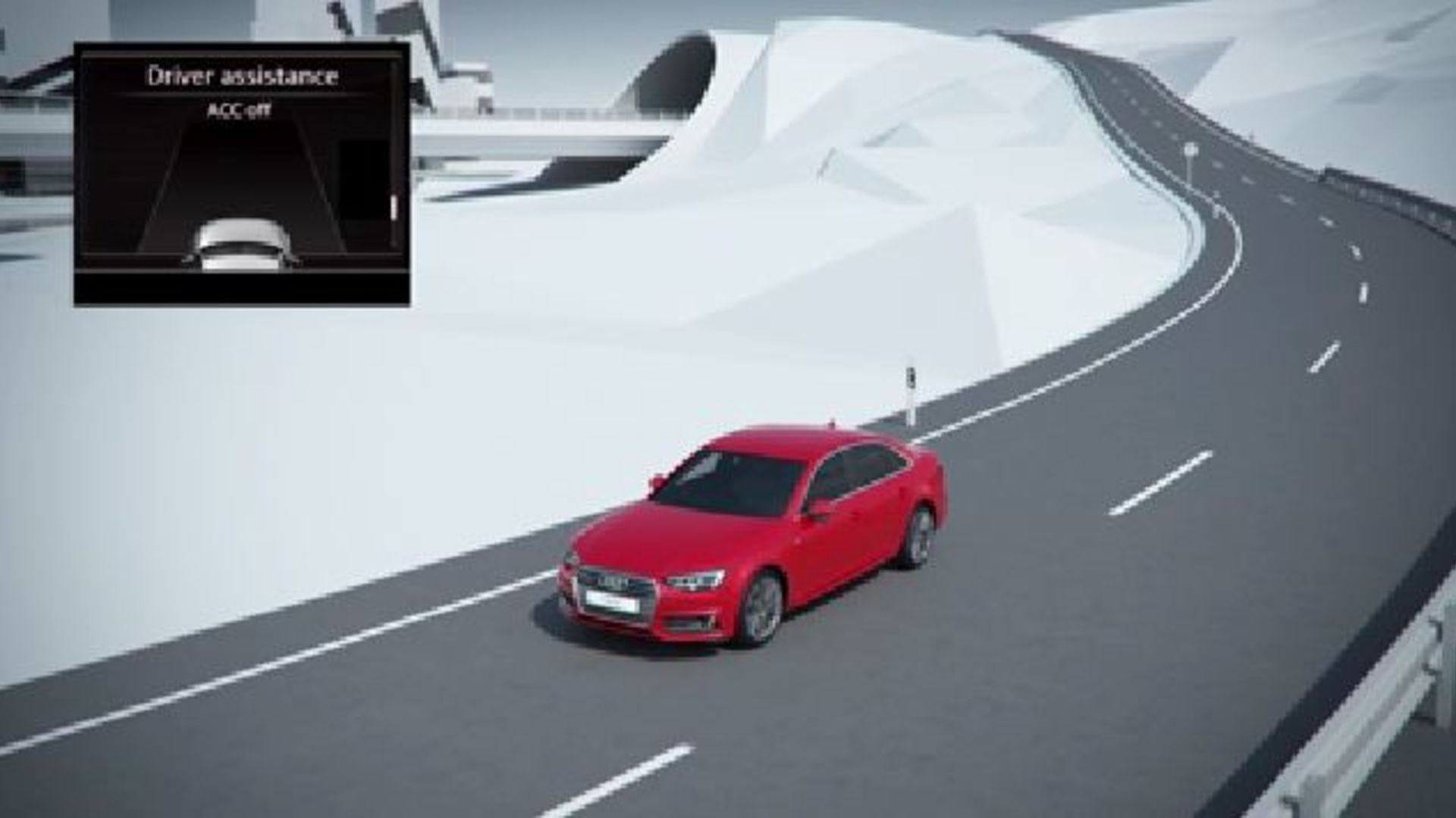 Audi A4 - Animation predictive efficiency assistant