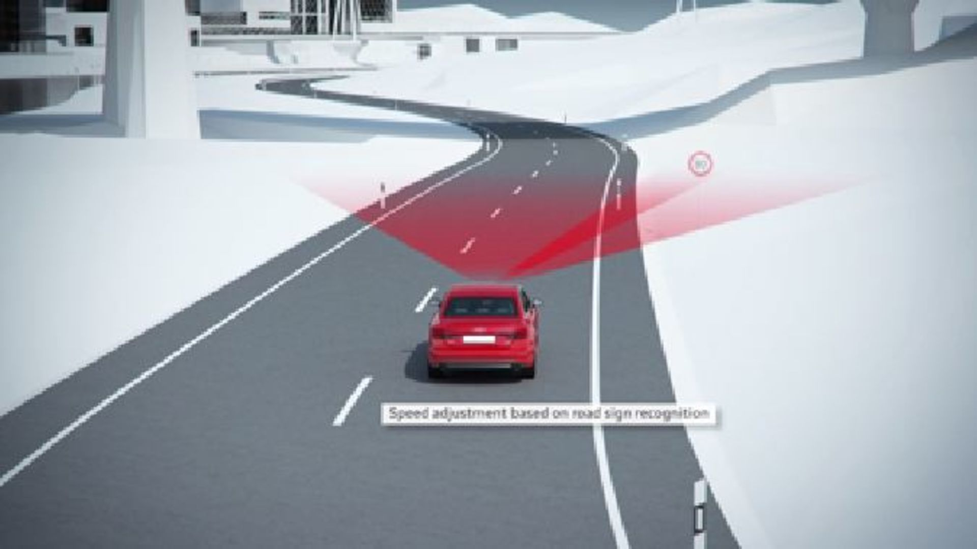 Audi A4 - Animation predictive efficiency assistant with ACC