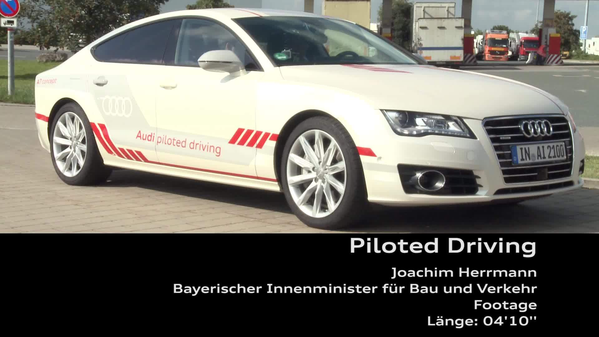 Piloted Driving - Minister Joachim Herrmann - Footage