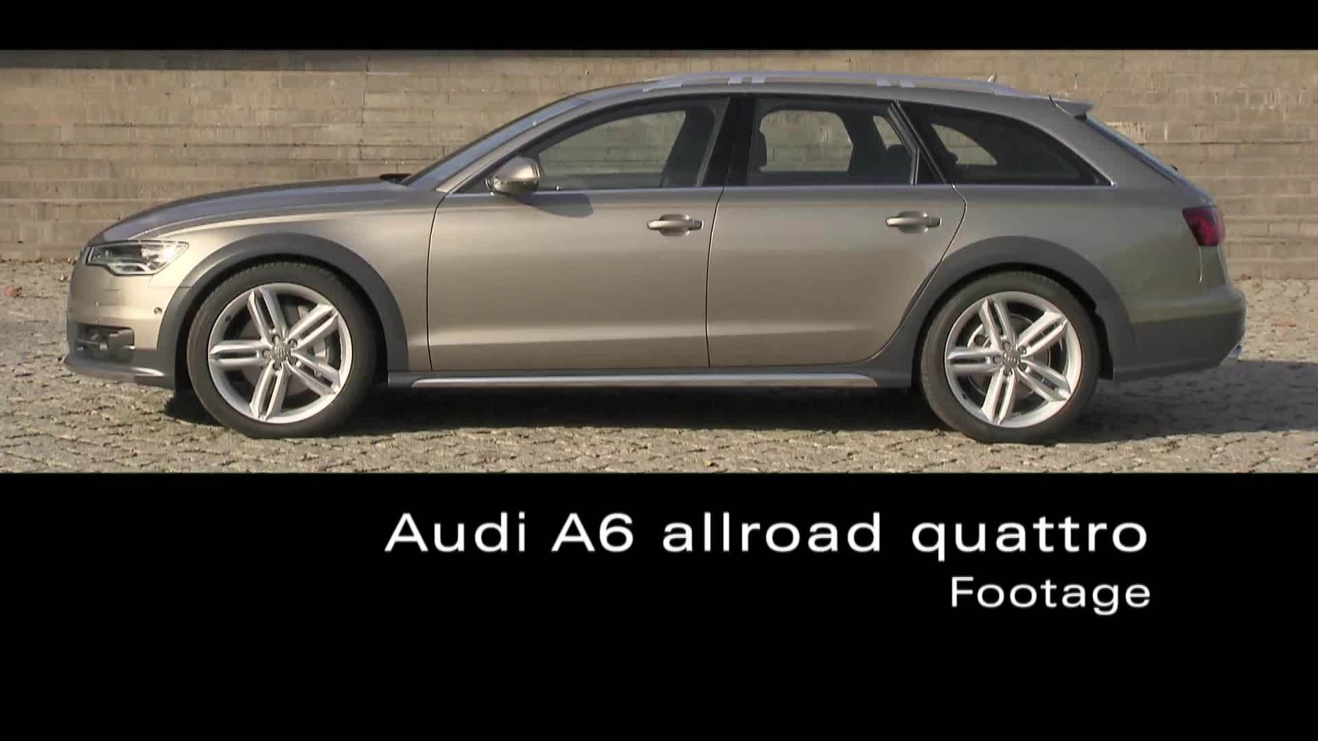 The Audi A6 allroad quattro - Footage