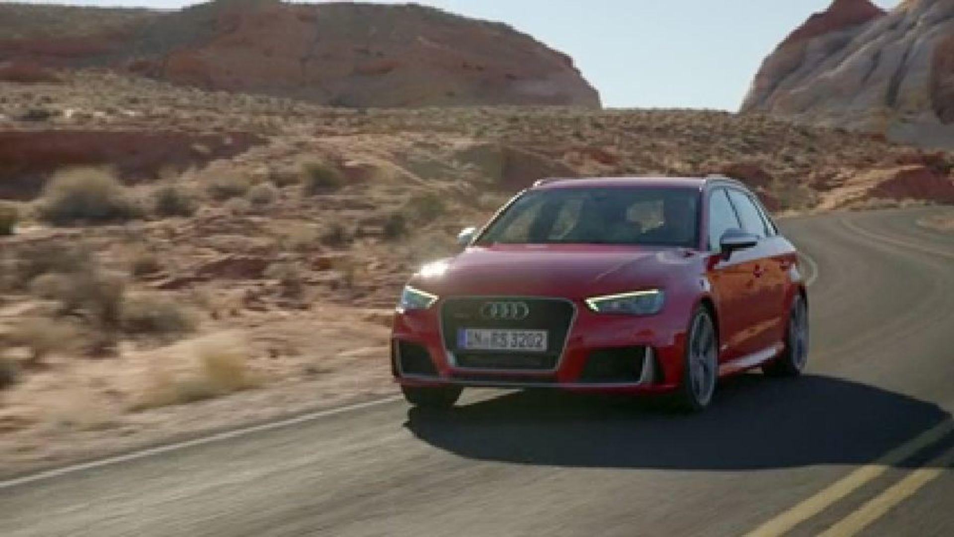 Exklusive Fahraufnahmen vom neuen Audi RS 3 Sportback