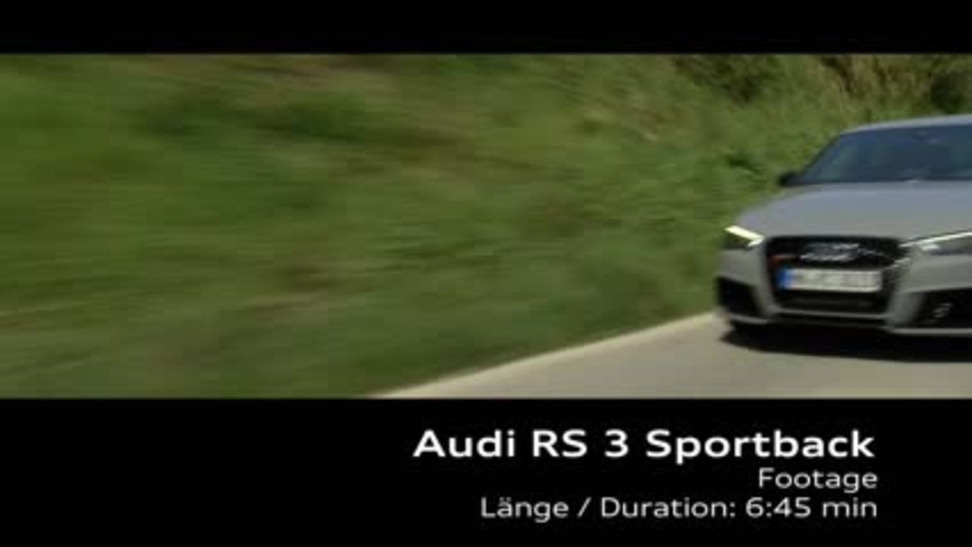 Der neue Audi RS 3 Sportback - Footage Frühling