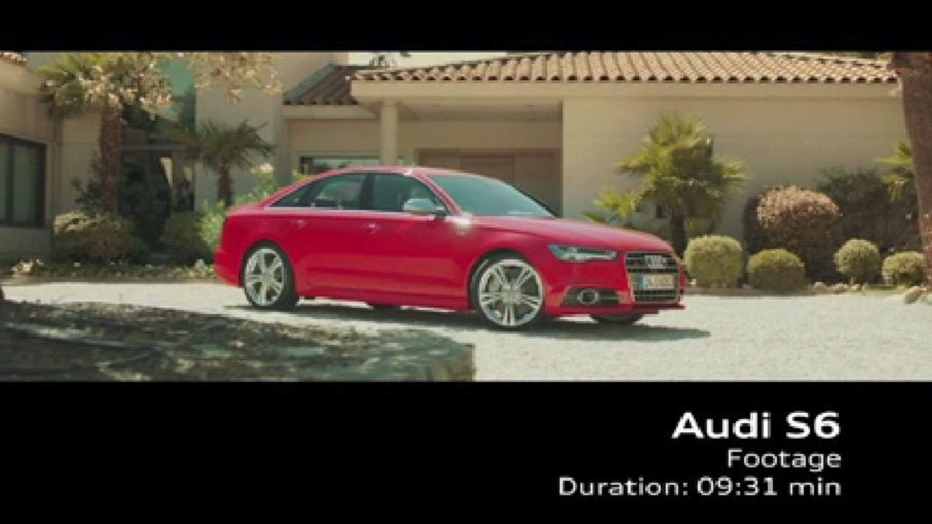 The Audi S6 - Footage