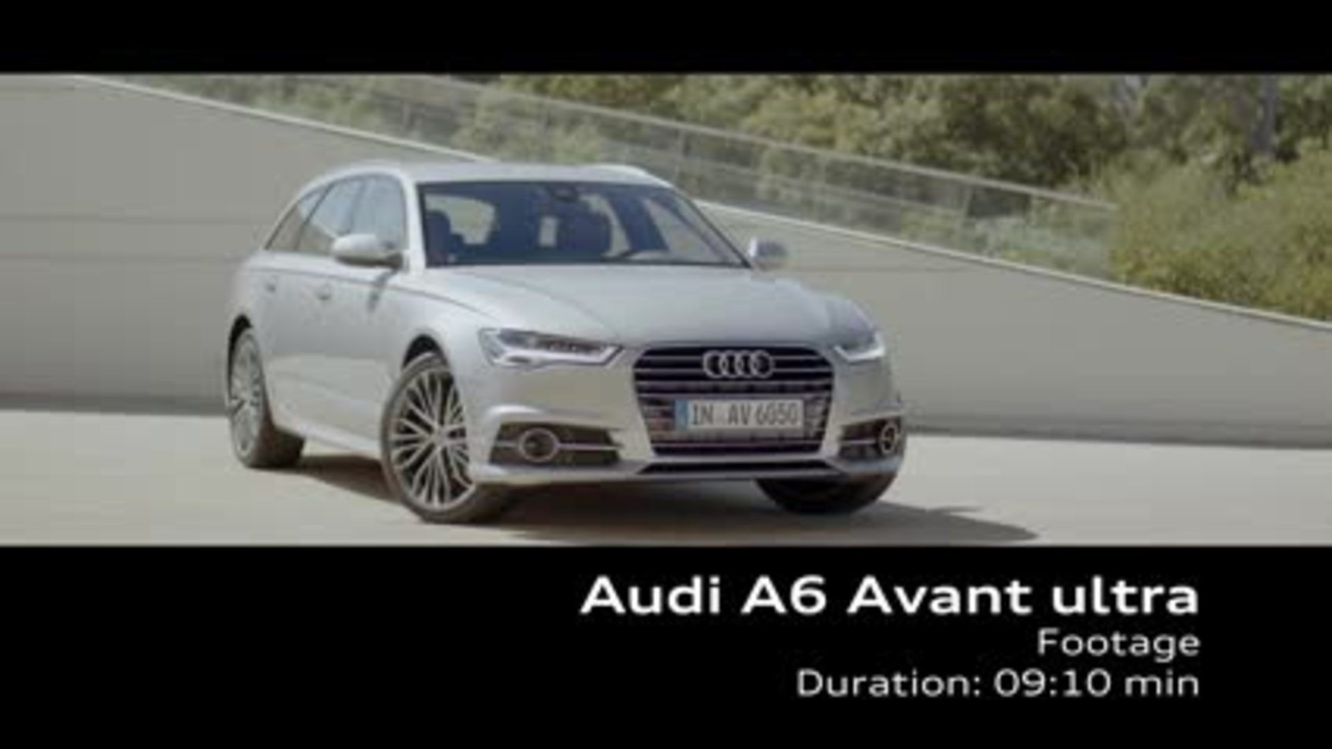 The Audi A6 Avant ultra - Footage