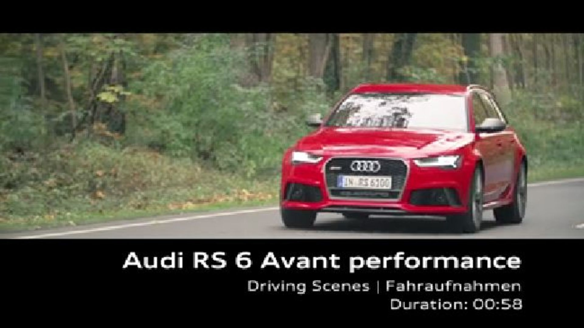 Audi RS 6 Avant performance - Footage 2015