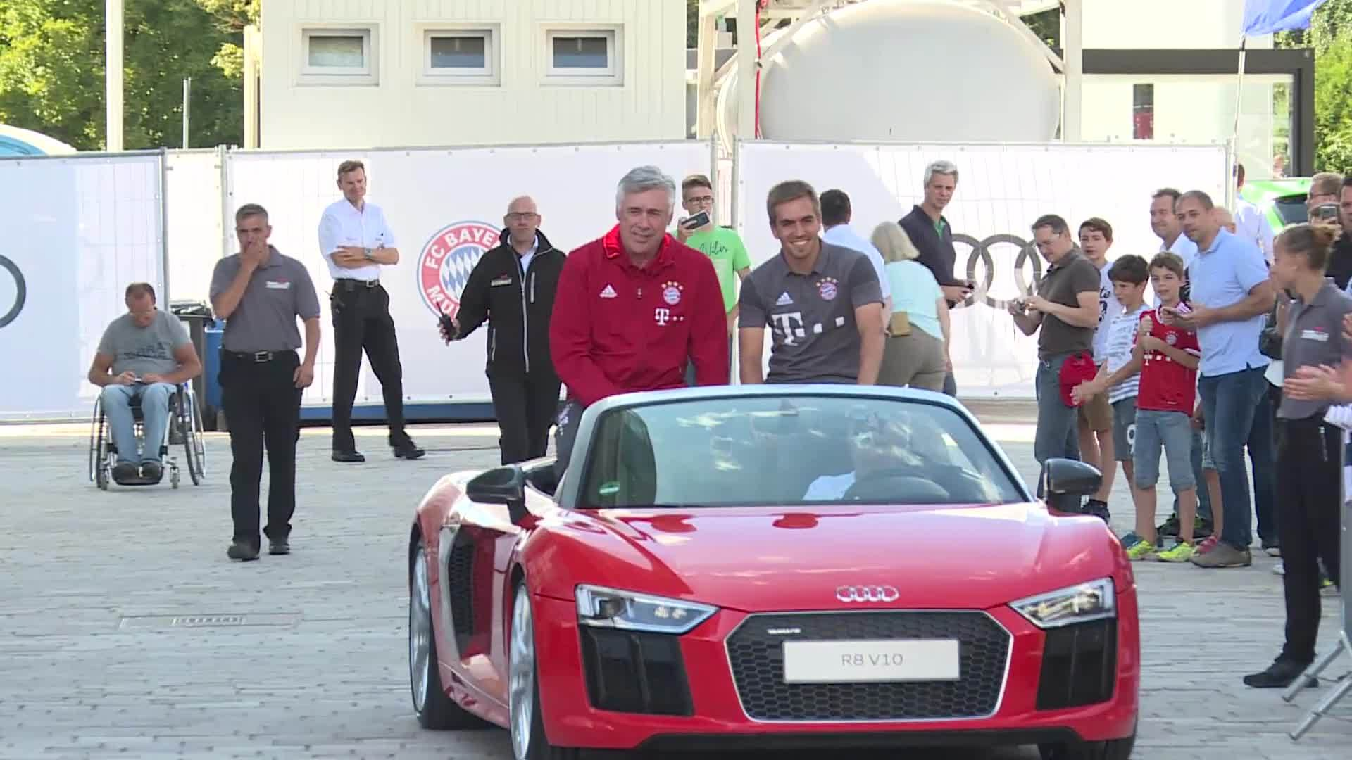 Fahrzeugübergabe FC Bayern 2016 - Footage