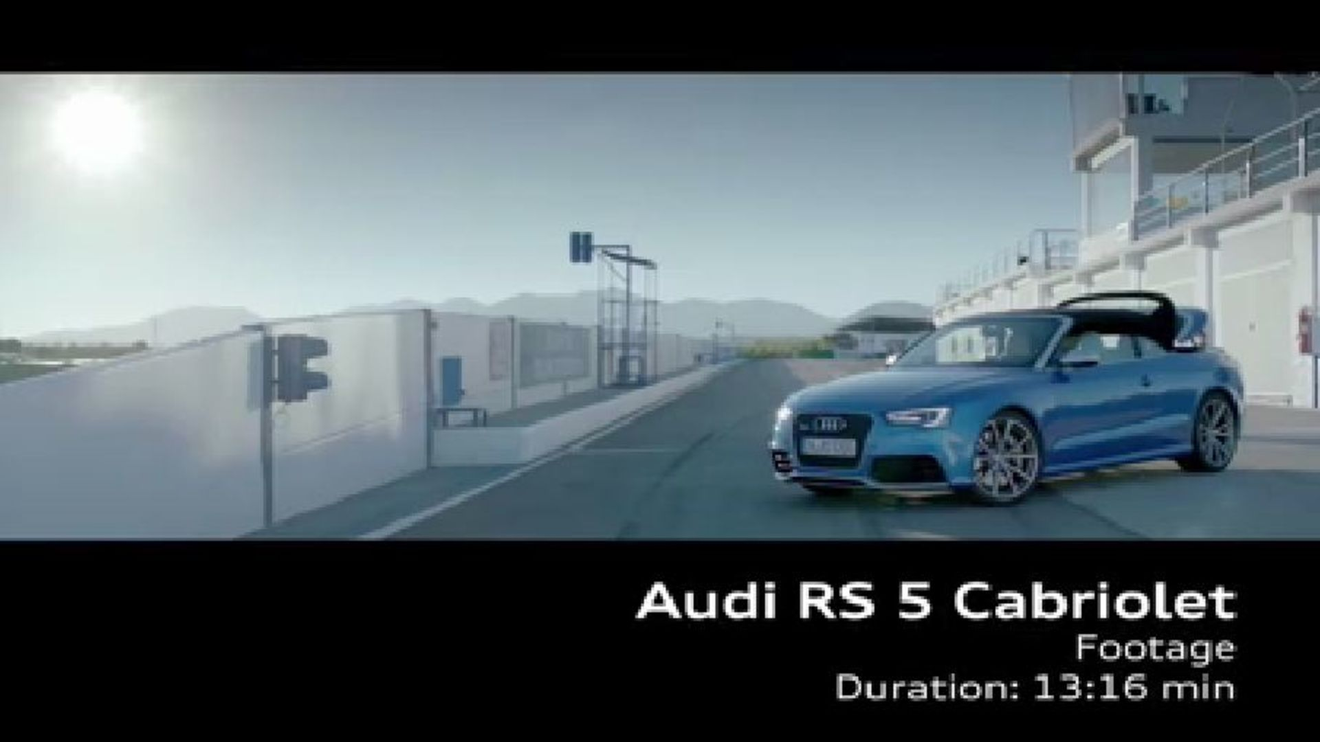 The Audi RS 5 Cabriolet on racetrack - Footage