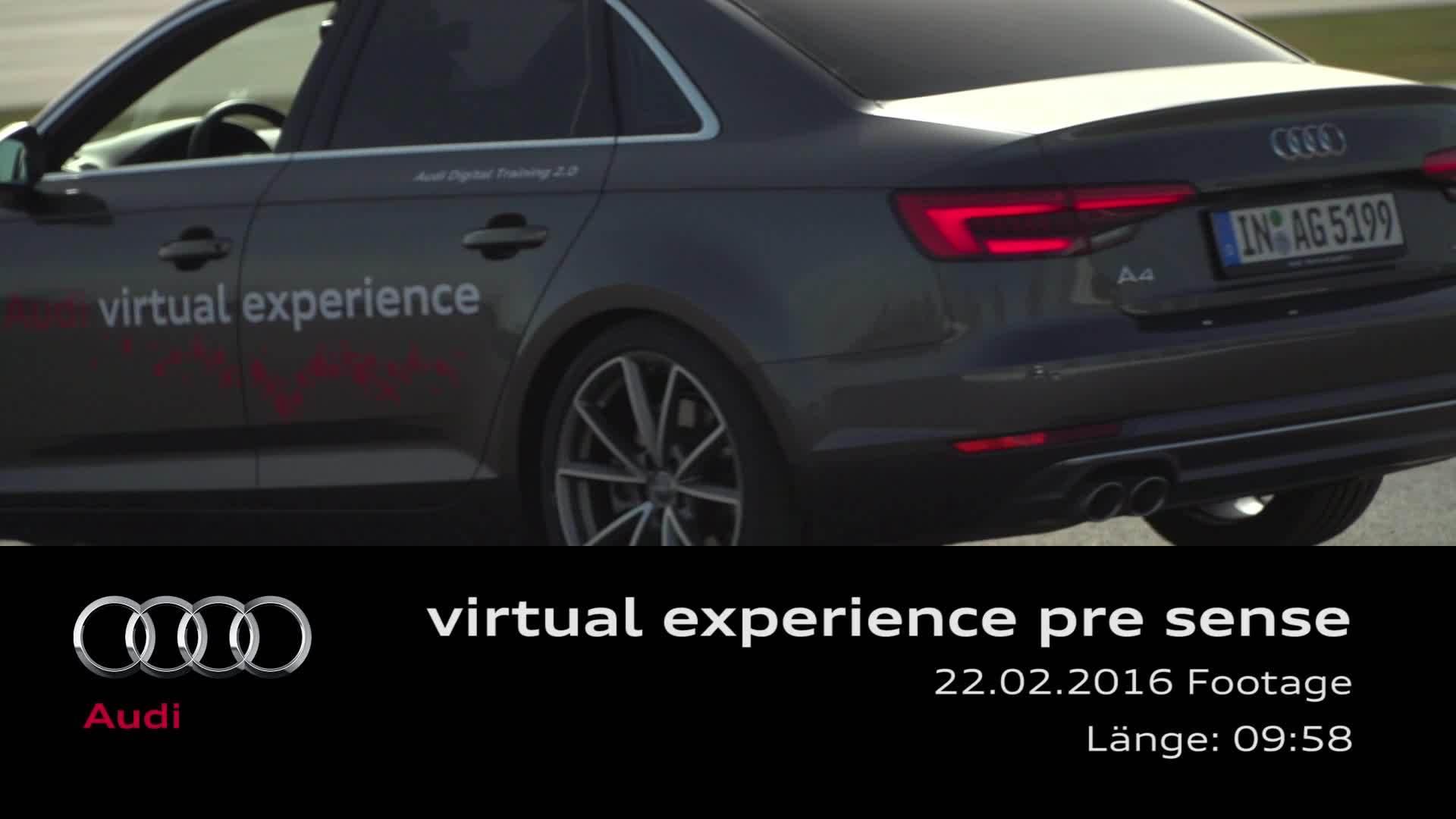 Virtual Experience pre sense Footage