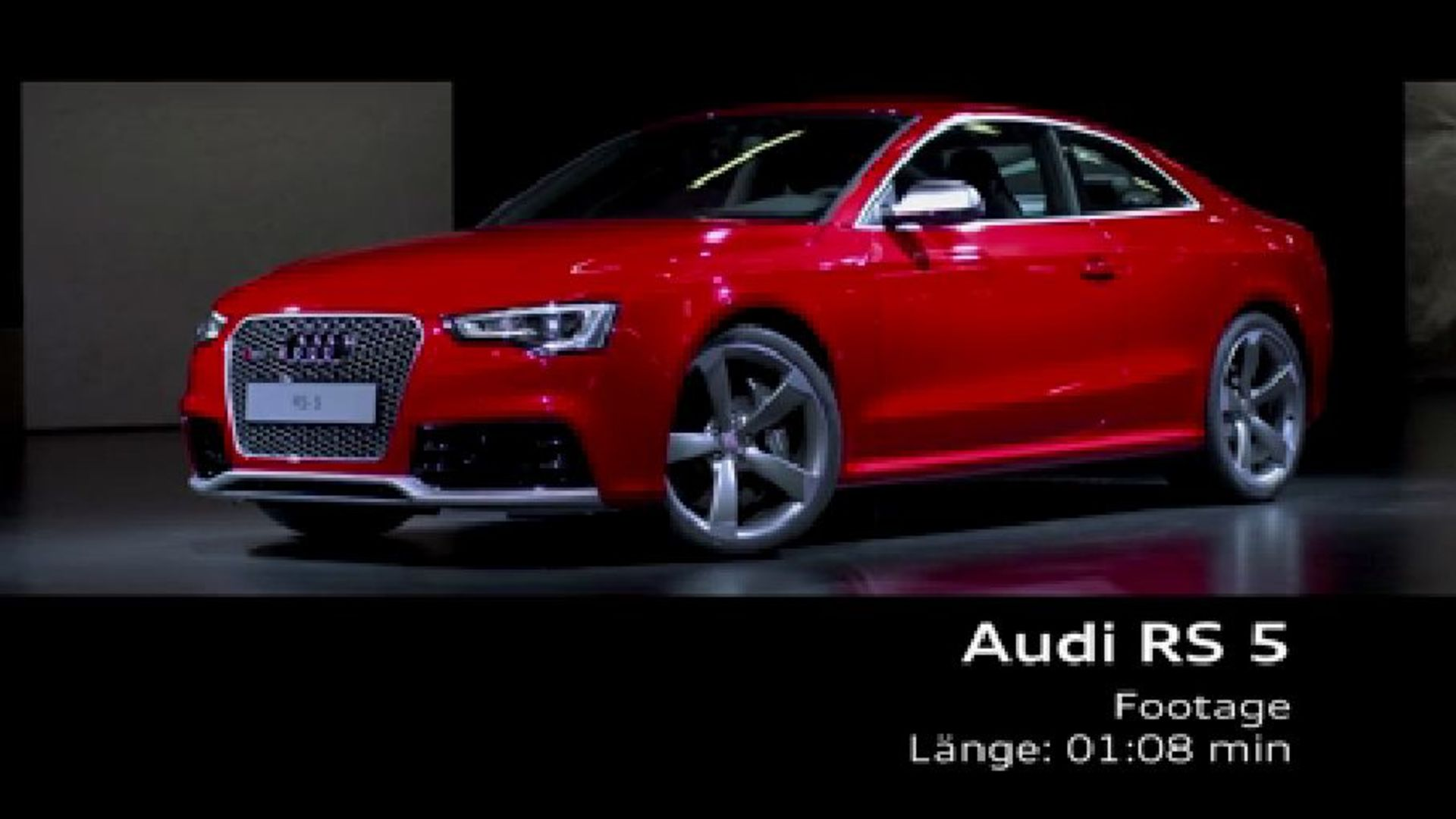 The Audi RS 5 Coupé - Footage
