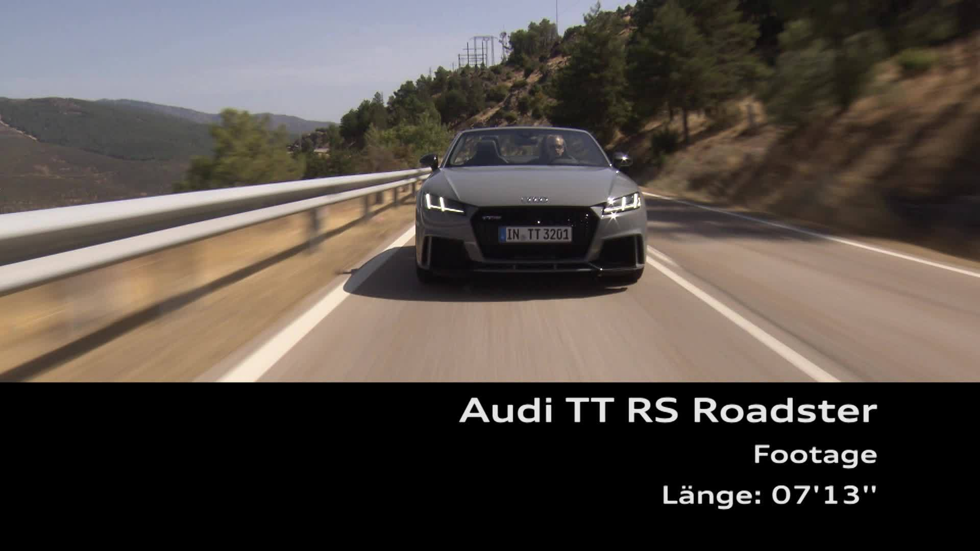 TT RS Roadster Footage Madrid