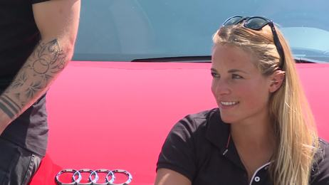International ski elite meets for Audi driving