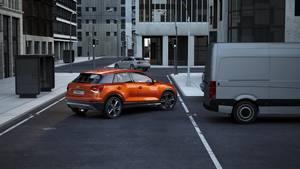 Audi Q2 - Animation Querverkehrassistent