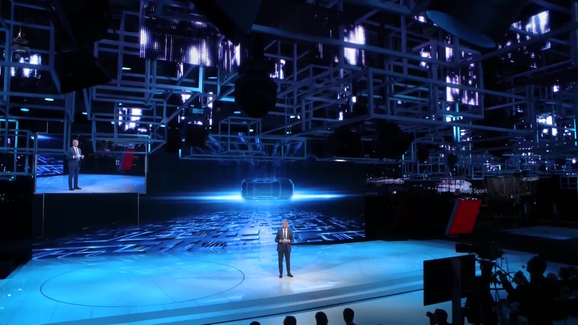 The Audi press conference from Paris