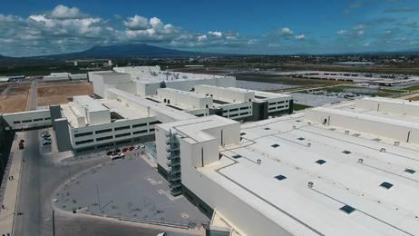 Aufbau des Automobilwerks San José Chiapa
