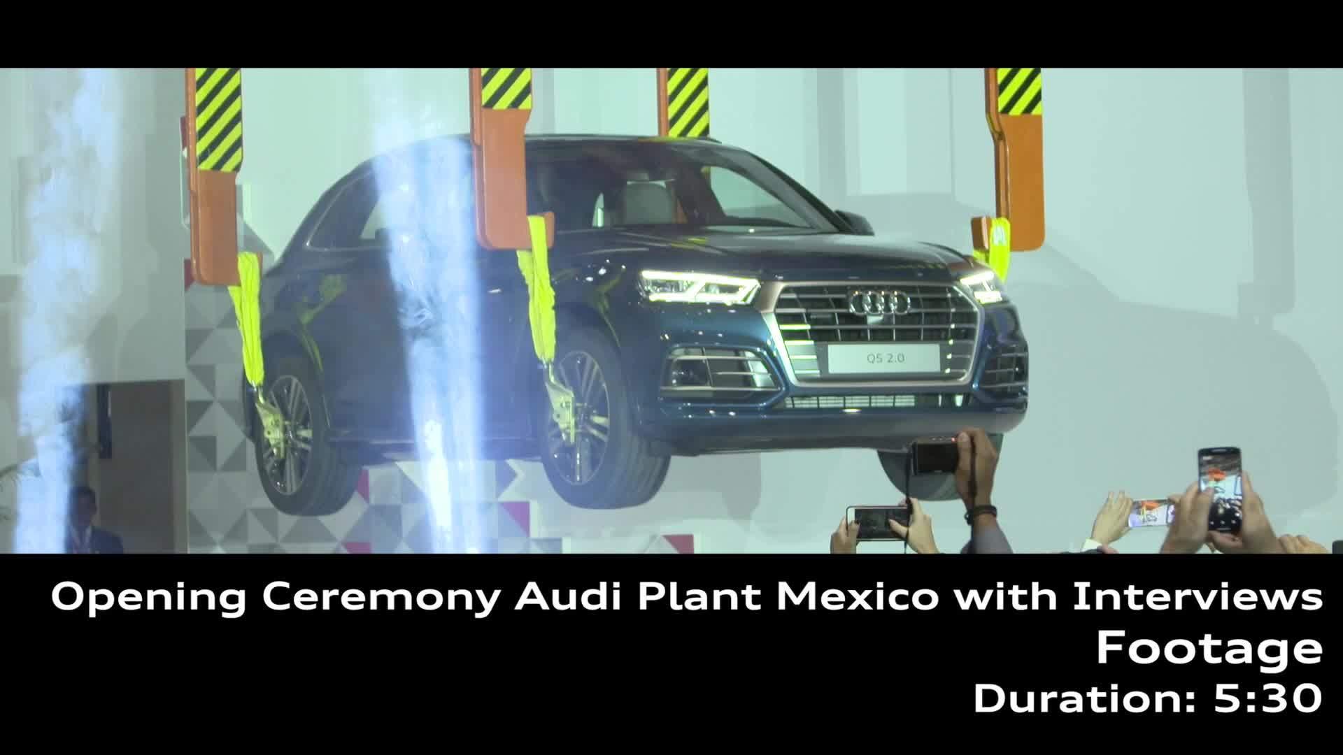 Eröffnung des neuen Automobilwerks in Mexiko – Footage