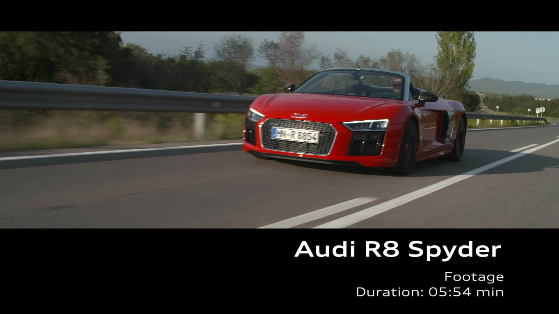 Audi R8 Spyder Footage red