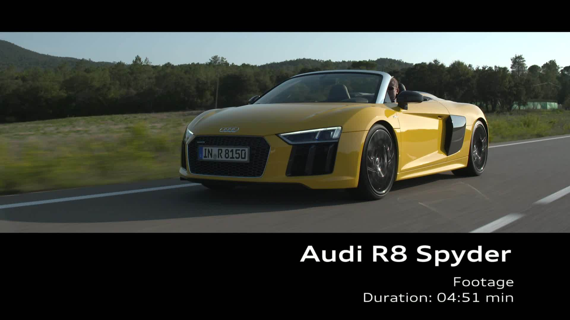 Audi R8 Spyder Footage Vegas Yellow