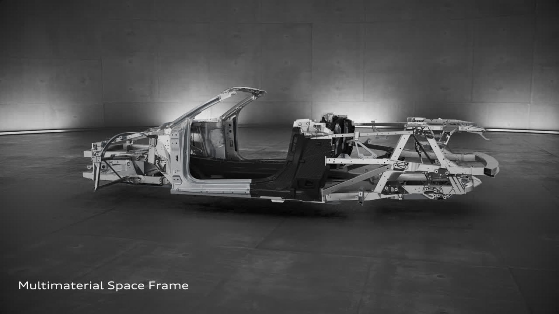 Audi R8 Spyder V10 Audi Space Frame Animation