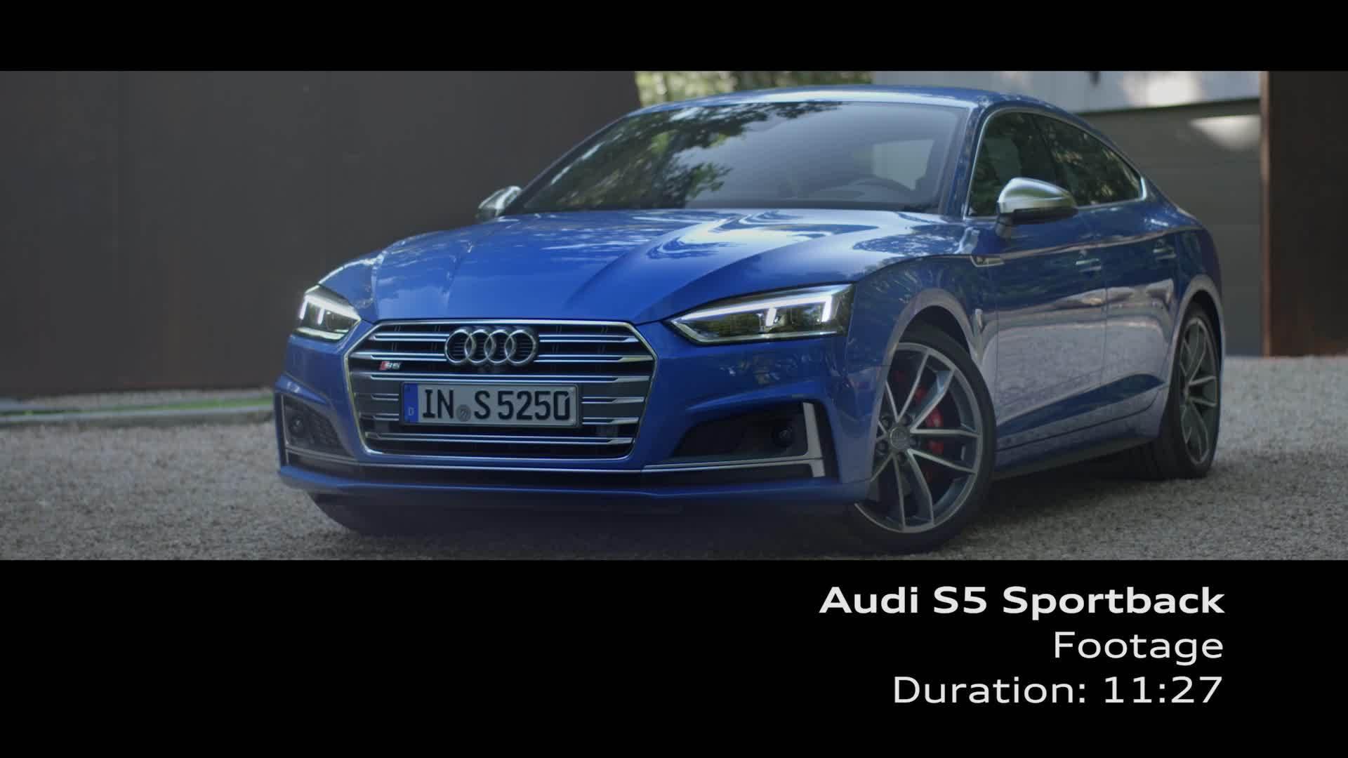 Audi S5 Sportback Footage