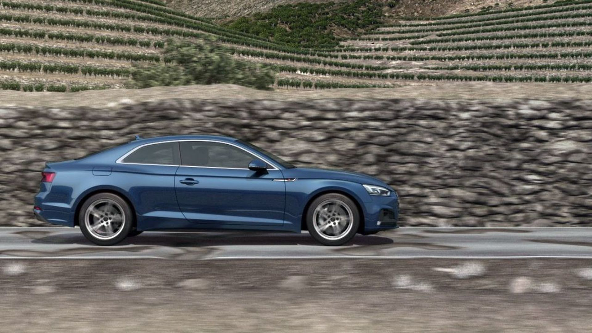 Audi A5 Coupé – Animation Suspension with damper control