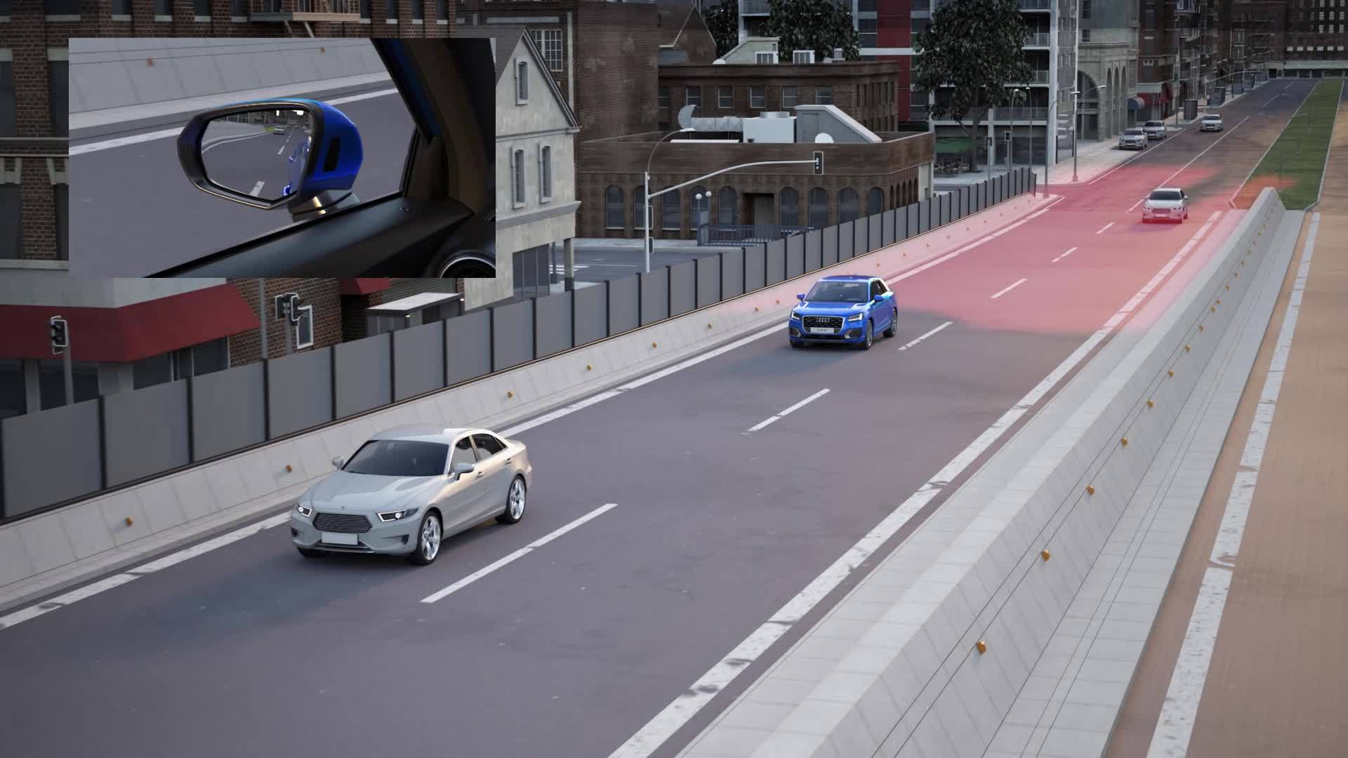 Audi Q2 - Animation Audi side assist