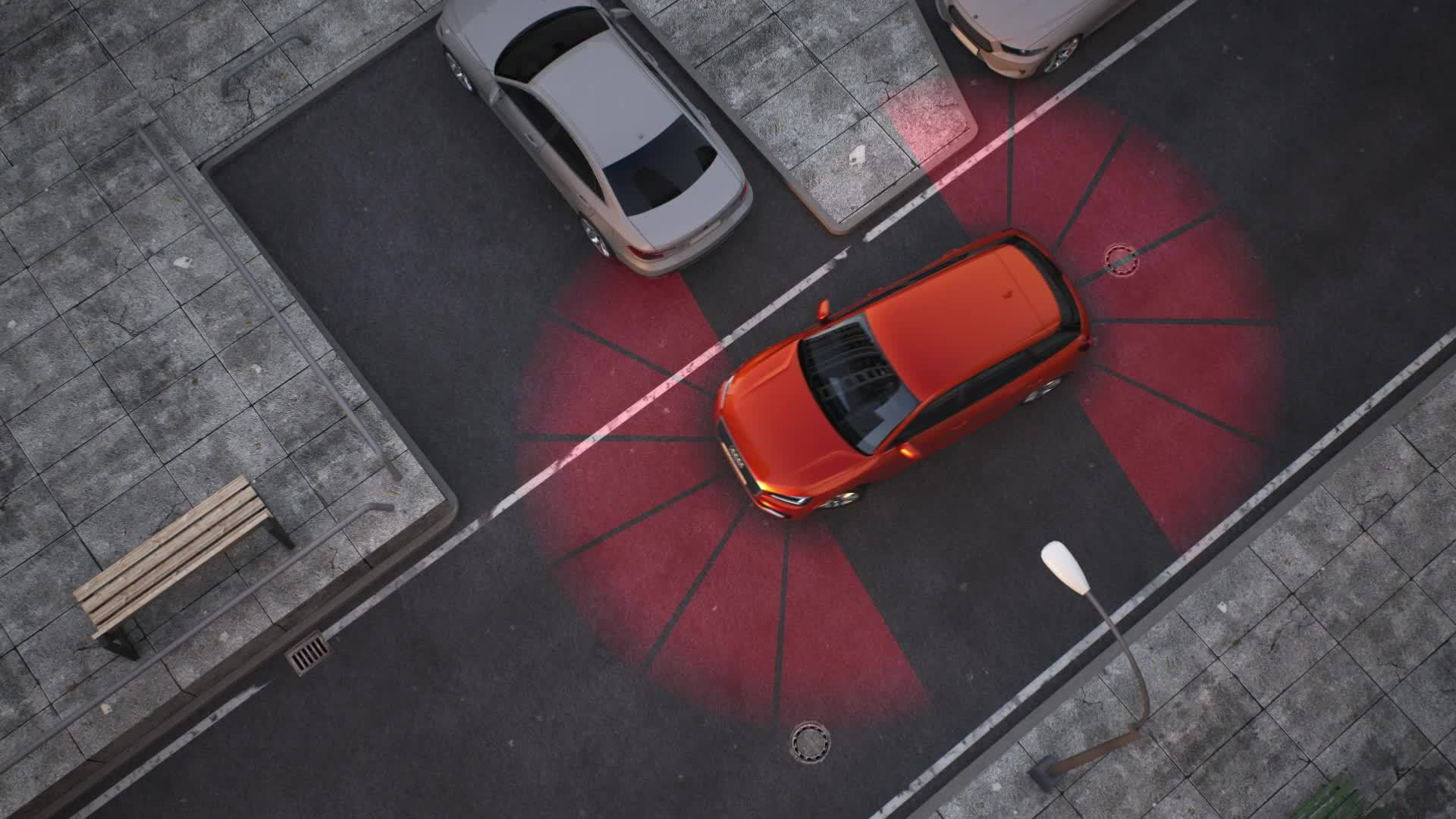 Audi Q2 - Animation Parkassistent