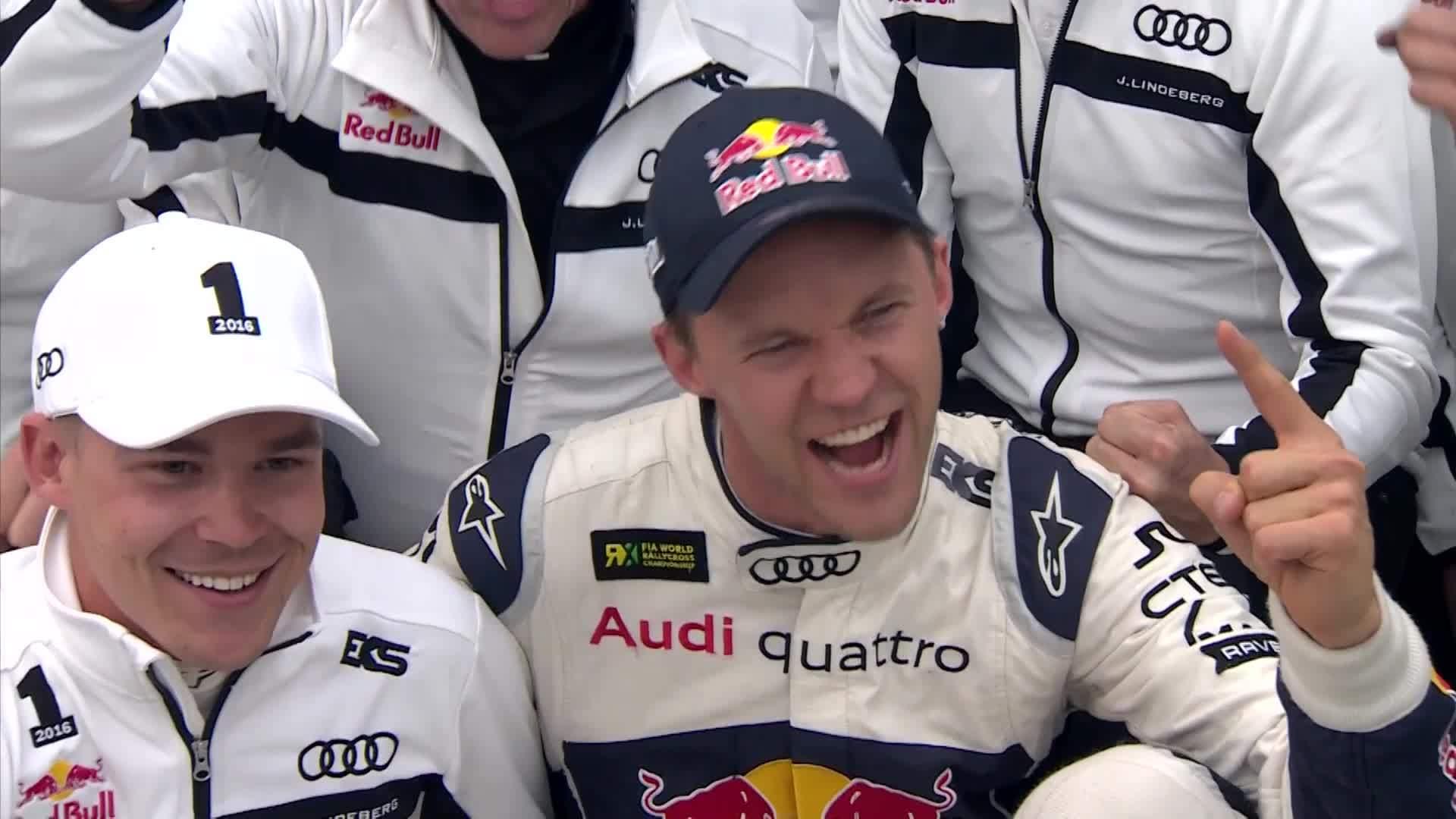 Mattias Ekström gewinnt Rallycross Weltmeisterschaft